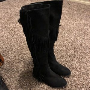 Over the knee Fringe Boots